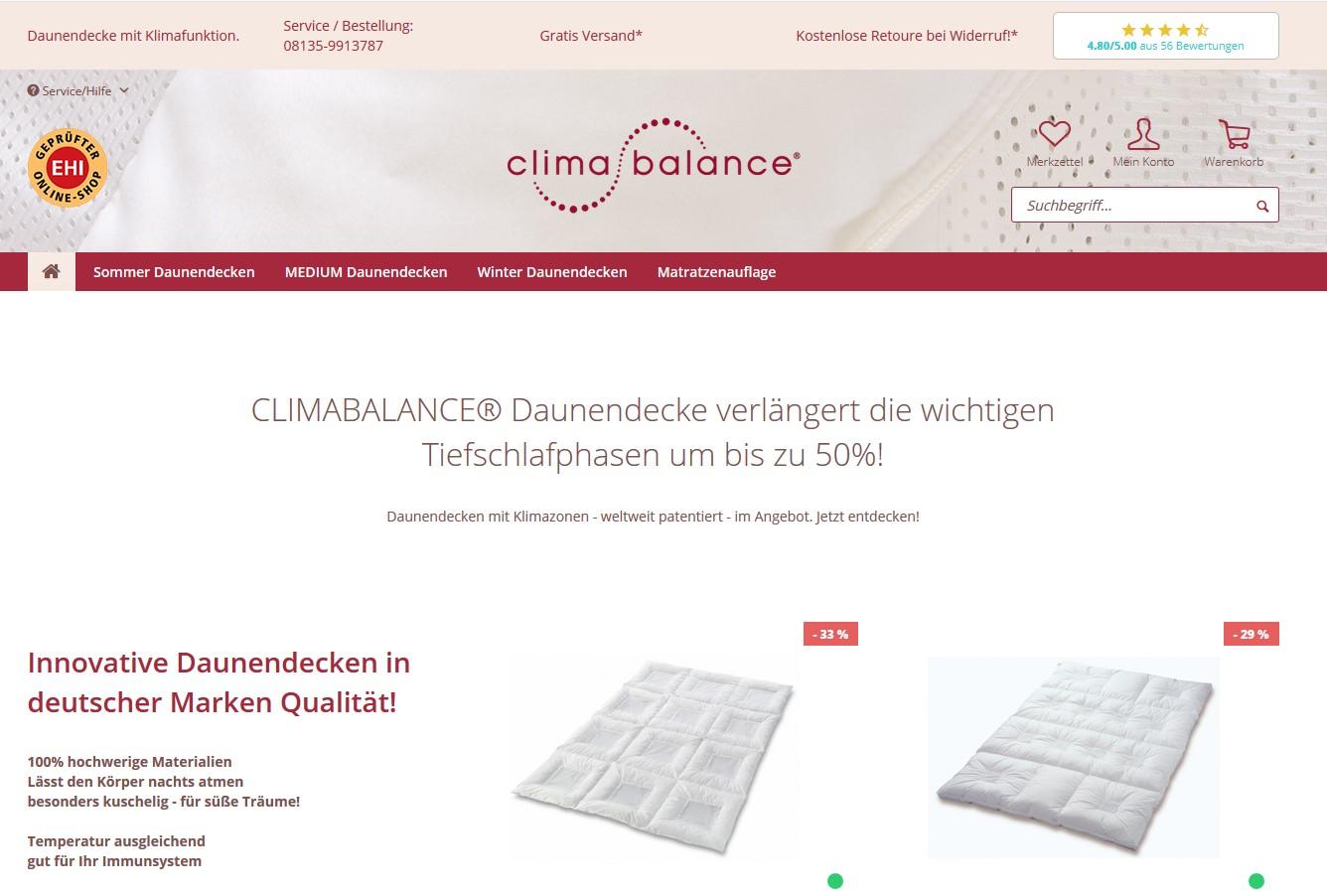 daunendecken-climabalance.de